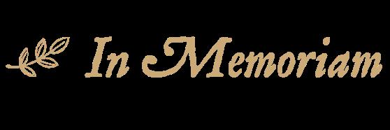 In Memoriam phrase